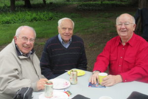 WG'56 Reunion Norm Leventhal, Fred Goldstein, and C.Dewitt Peterson at Dewitt's annual Jazz Picnic at his home in South Jersey.