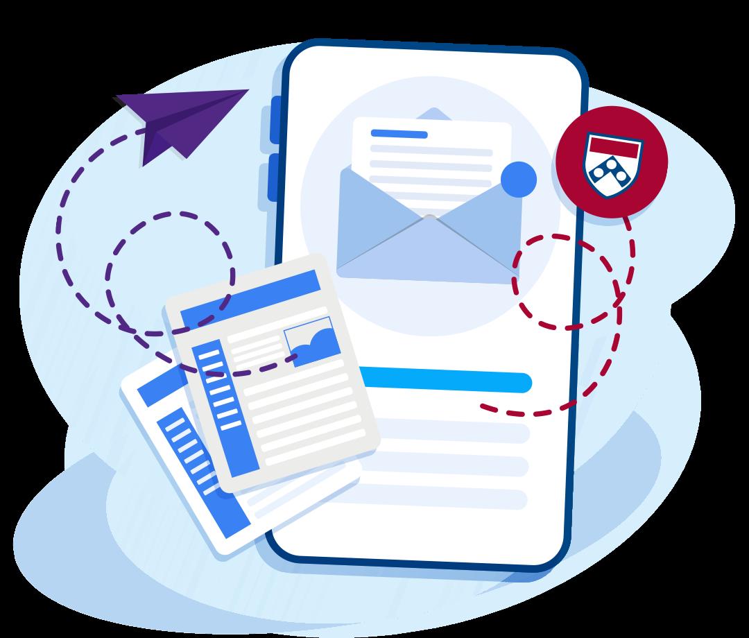 Newsletter Sign-Up Form Illustration